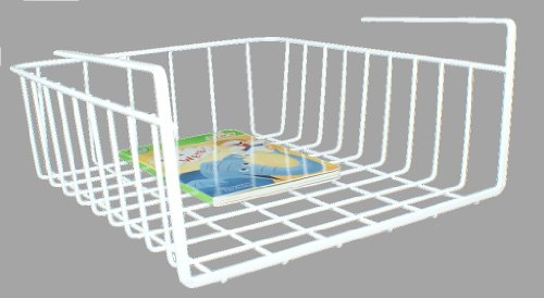 DecoBros Under Shelf Basket Wrap Rack, White