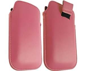ONX3 Nokia E7 cuero rosado Tire de la lengüeta de protección Funda + LCD Protector de pantalla