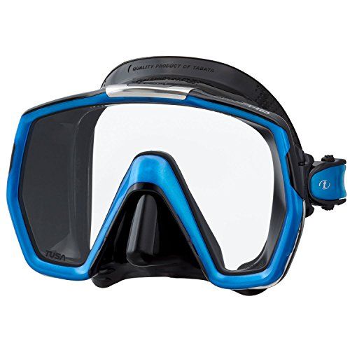TUSA M-1001 Freedom HD Scuba Diving Mask, Black/Fishtail Blue