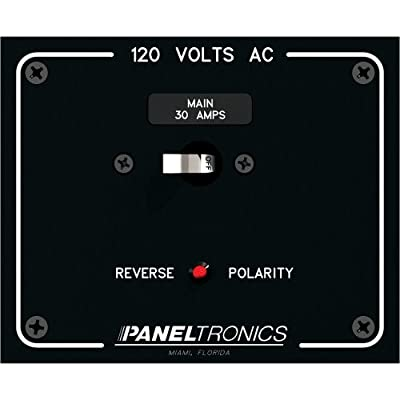 Paneltronics Standard Panel AC Main Double Pole w/30Amp CB & Reverse Polarity Indicator