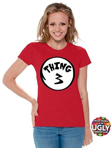 icustomworld Women's thing 1 and thing 2 shirts (M, Thing (Thing 1 Thing 2 Thing 3)