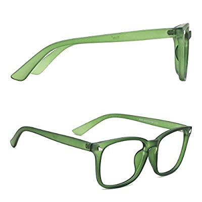 TIJN Blue Light Blocking Glasses Square Nerd Eyeglasses Frame Anti Blue Ray Computer Game Glasses