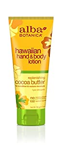 Alba Botanica Hawaiian, Cocoa Butter Hand & Body Lotion, 7 Ounce