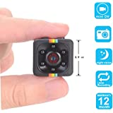 VESKYS Spy Camera, Mini Hidden Camera 1080P Full HD Camcorder with Night Vision & Motion Detection Security Camera portable for Home/Office/Driving Security