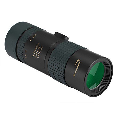 Aurosports 8-24x30 Zoom Monocular Waterproof Pocket Telescope Dual Focus With BAK4 Prism Multi-coated Lens Fit Adults Kids For Hiking, Hunting, Camping, Birding, (Double Focus Target)