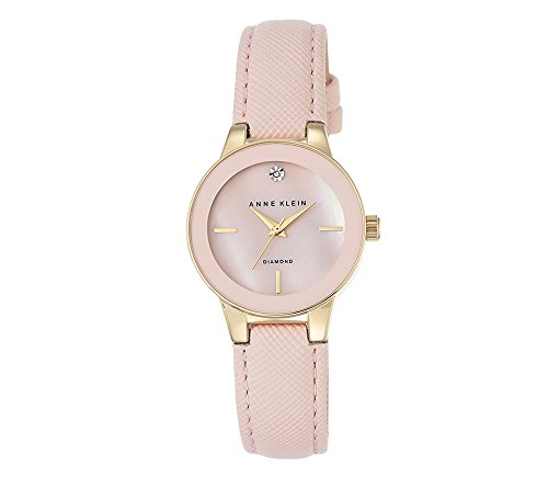 Anne Klein Blush Diamond Dial Strap Watch
