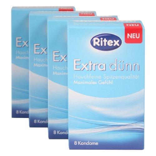 32 ( 4 x 8er ) Ritex Extra Dünne Kondome - Maximales Gefühl