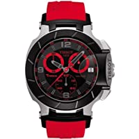 Tissot Men's T0484172705702 T-Race Two-Tone Stainless Steel Watch with Red Rubber Band