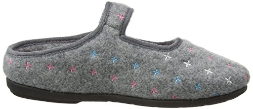 Padders Heidi, Zapatillas De Estar por Casa para Mujer Gris - gris