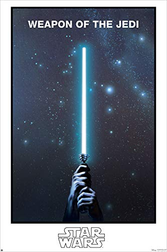 Star Wars - Glow in The Dark Movie Poster Print (Weapon of The Jedi - Lightsaber - Limited Edition) (Size: 24 inches x 36 inches)
