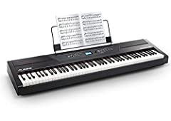 Perfect Feel, Premium Sound   The Alesis Recital Pro is a full-featured digital piano with 88 full-sized hammer-action keys with adjustable touch response. The Recital Pro features 12 premium built-in realistic voices:  Acoustic Piano  Acous...