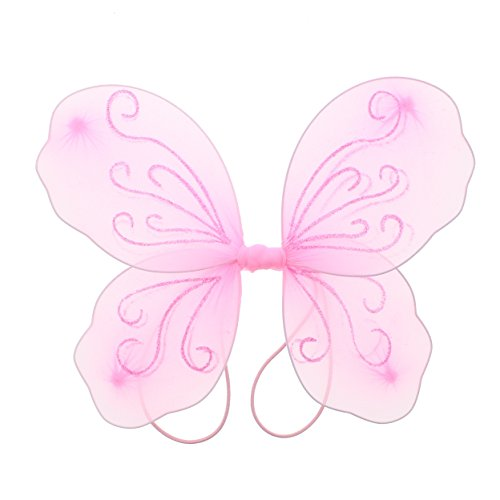Butterfly Wings Fancy Dress (Zac's Alter Ego Fancy Dress Glitter Butterfly Fairy Wings)