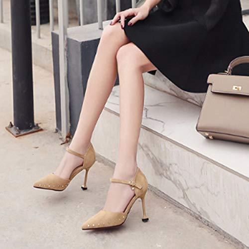 Pompes Fermés Des Femmes Pointues De Pour Sandales Apricot Talons À Soirée Chaton Pointus Les Parti Yra Chaussures Stilettos Dames Bouts Lanières 7xwqIPOYO