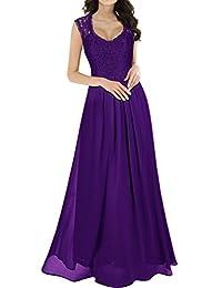 Miusol Women's Casual Floral Lace Sleeveless Vintage Wedding Maxi Dress