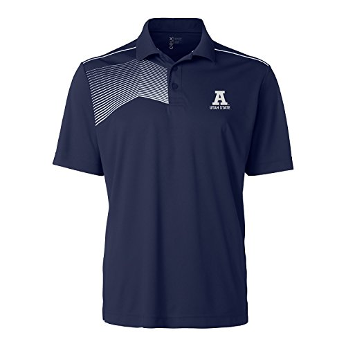 CBUK NCAA Utah State Aggies Men's Glen Acres Polo Tee, Navy, - Aggies Utah State Golf