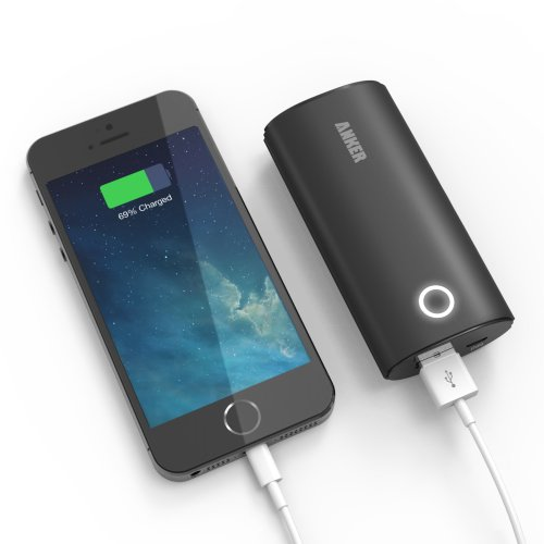 Anker® 2nd Gen Astro 6000mAh (2A Output) Portable Charger External Battery Pack with PowerIQ™ Technology for iPhone 5S, 5C, 5, 4S, iPad Air, mini, Galaxy S5, S4, S3, Note 3, Galaxy Tab 3, 2, Nexus 4, 5, 7, 10, HTC One, One 2 (M8), MOTO X, G, LG Optimus, other Smartphones and Tablets (Apple 30 pin and lightning, Samsung 30-pin adapter, not included)
