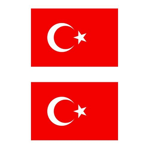 Magnet Two Pack Flag of Turkey Magnetic Vinyl Vinyl Turkish Crescent Moon and a Star Car Magnet Bumper Sticker