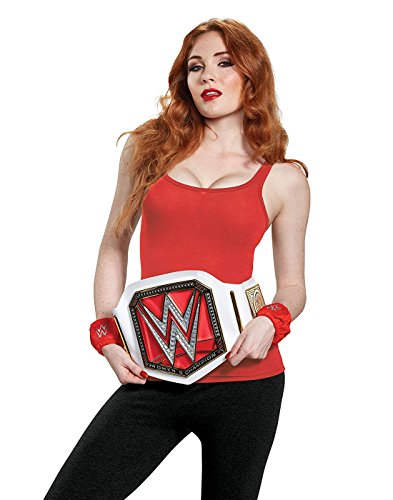 Disguise Women's WWE Championship Belt Adult Costume Kit, White, One Size by Disguise