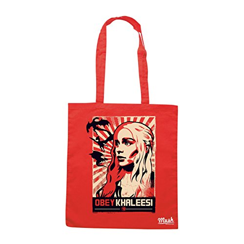 Borsa OBEY KHALEESI GAMES OF THRONES - Rossa - FILM by Mush Dress Your Style