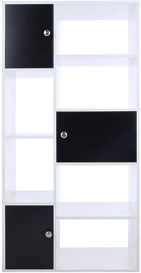 30 90cm lyrlody Scaffale per Casa e Ufficio,Libreria in Legno,Mobile Guardaroba,Cubi Aperti e Ripiani,libreria di casa con 7 cubo,per Soggiorno//Camera da Letto,90