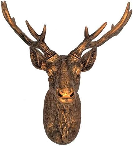 Pink Faux Deer Head 10 Zoll Hirsch Tier Scuplture für Bauernhaus Wand