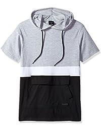 Men's Short Sleeve Color Blocked Anorak Hoody Tee