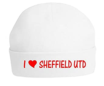 I Love Sheffield Utd The Bees Tees Babys Football Beanie Hat