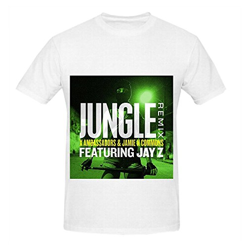 X Ambassadors Jungle Remix Feat Jay Z Tour Rock Men Crew Neck Digital Printed Shirt -
