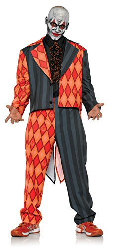 [Men's Evil Jester Clown Tuxedo Costume - Thriller] (Family Themed Halloween Costumes 2016)