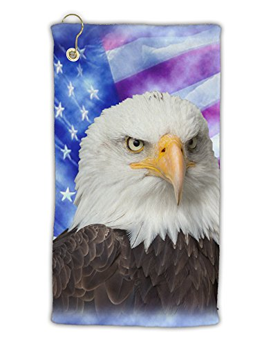 (TooLoud All American Eagle All Over Micro Terry Gromet Golf Towel 15