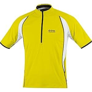 Gore Air Half Zip Short Sleeve Running T-Shirt - XX Large - Yellow
