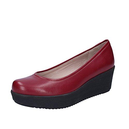 UNISA Zapatos de Vestir de Piel Para Mujer Morado Burdeos