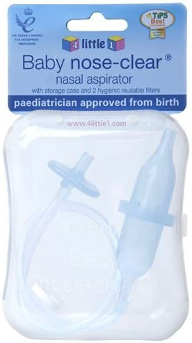 Ganador de Premio bebé nariz clara aspirador nasal – no requiere filtros – con nuevo funda de transporte: Amazon.es: Bebé