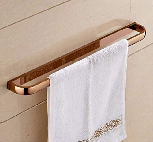 Xixuanstore Antique-Brass Towel Rack Bathroom Towel bar Antique Bathroom Classic Wall Mount Bracket (Color : Rose Gold (USA))