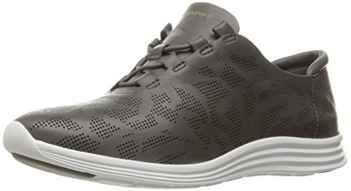 Cole Haan Womens Original Grand Perf Fashion Sneaker Storm Cloud Perforated Leather/Optic White