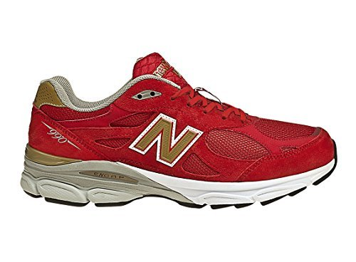 New Balance Men's M990 NYC Running Shoe, Size: 14 Width: D Color: Red/Gold