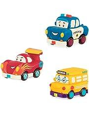 Mini Pull-Back Vehicles Set, Bus & Cars