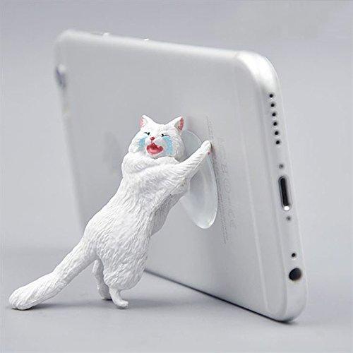 Cell Phone Stand,Cat Shape Cute Phone Mounts Adjustable Multi-angle Pocket Desktop Holder Cradle (Shape Cell Phone)