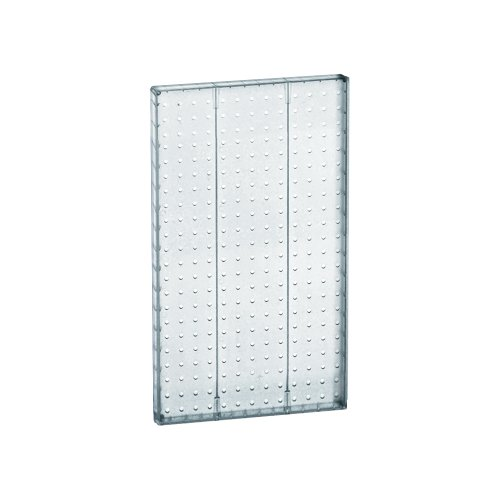 Azar 771322-CLR Pegboard 1-Sided Wall Panel, Clear Translucent Color, 2-Pack ()