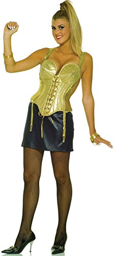 Forum Novelties Women's 80's Pop Star Costume, Gold/Black, Medium/Large