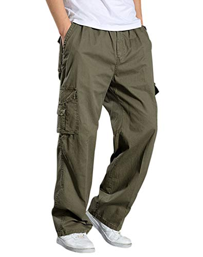 [해외]Gihuo 남자의 면 멀티 포켓 작업 전술 야외 군사 육군 카고 바지 / Gihuo Men`s Cotton Multi-Pockets Work Tactical Outdoor Military Army Cargo Pants