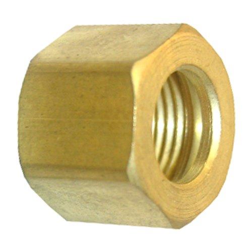 LASCO 17-6111 1/4-Inch Compression Brass Nuts, 2-Piece ()