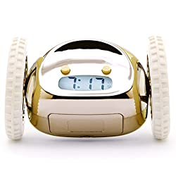 Clocky The Original Runaway Alarm Clock on Wheels, Gold | Dorm Room Décor, Back to School (Perfect for Students from Elementary School to College & Beyond)