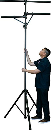 Solena LS-200 DJ & Stage Lighting Stand with Dual Crossbars