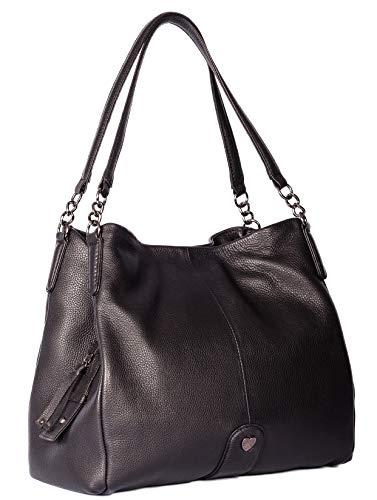 Sac à bandoulière Mala Leather, Large Black pour femmes