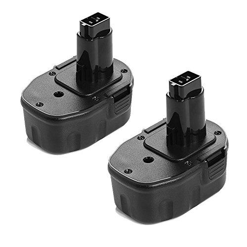 Powerextra 2 PCS 144V 3000mAh Replacement Battery for DEWALT DC DW XRP Series Dewalt DC9091 DW9091 DW9094 DW 9094 DC 9091 DE 9038 DE 9091 DE 9092 DC Series Dewalt 144 Volt Battery