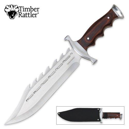 Timber Rattler Sinful Spiked Bowie Knife, Outdoor Stuffs