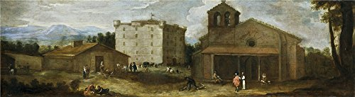 Oil Painting 'Aguero Benito Manuel De Vista De El Campillo Casa De Campo De Los Monjes De El Escorial Third Quarter Of 17 Century ' Printing On High Quality Polyster Canvas , 20 X 73 Inch / 51 X 185 Cm ,the Best Game Room Gallery Art And Home Decoration