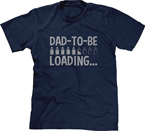 Blittzen Mens T-Shirt Dad-to-Be Loading Bullets, L, Navy ()