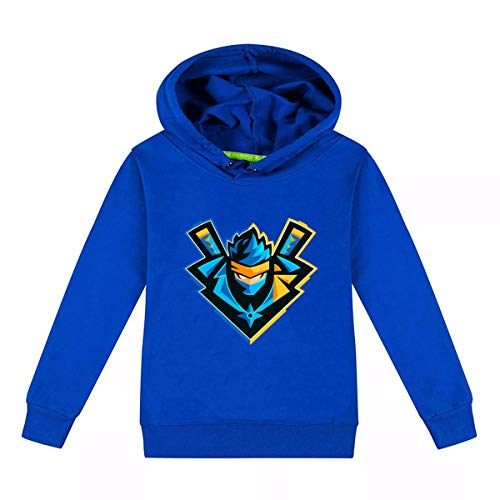 (VMAKEIT Children's Xmas Long Sleeve T Shirt Kids Graphic Tees Hoodies Ninja(Blue) L)